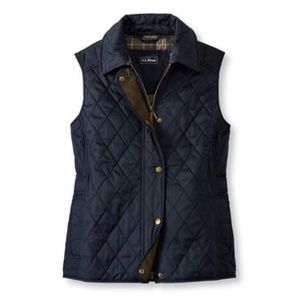 L.L. Bean Quilted Riding Vest (Navy)
